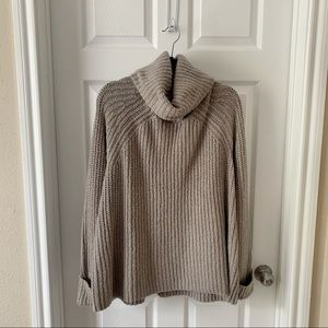BP stone colored chunky turtleneck sweater